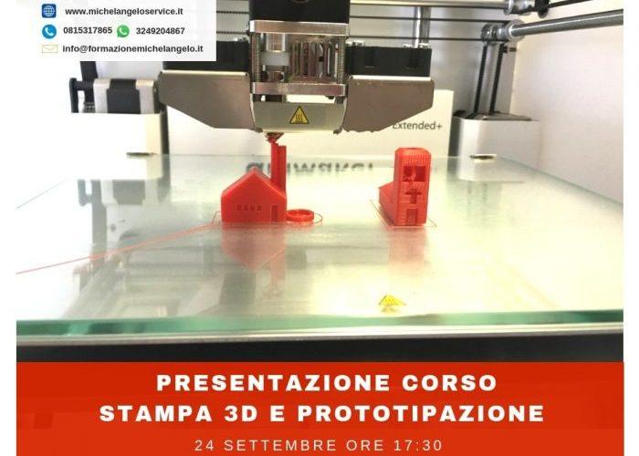 Presentazione Corso Stampa 3D e Prototipazione - settembre 2018 napoli
