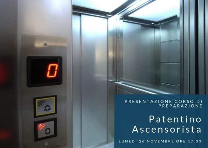 Corso preparatorio al patentino ascensorista